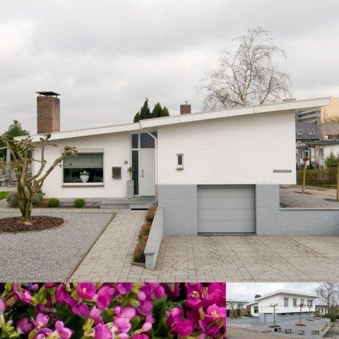 Luxe vrijstaande split-level bungalow met gastenverblijf, inpandige garage en goed afgewerkte kelderruimte.